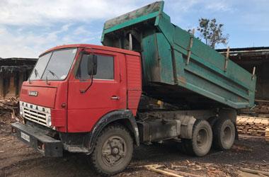 доставка пиломатериалов автомобилем КамАЗ самосвал 8 т